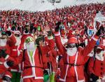 Новый рекорд Гиннеса: горнолыжный сезон в Альпах открыли 2656 Санта-Клаусов