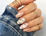 Рисунки на ногтях с эффектом натурального мрамора: идеи маникюра на каждый день