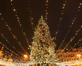 В Киеве зажгли главную елку страны: новогодняя красавица с высоты птичьего полета