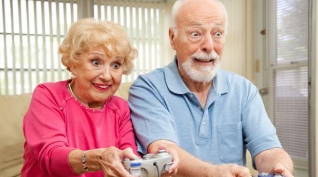 Пенсионеры и видео игры