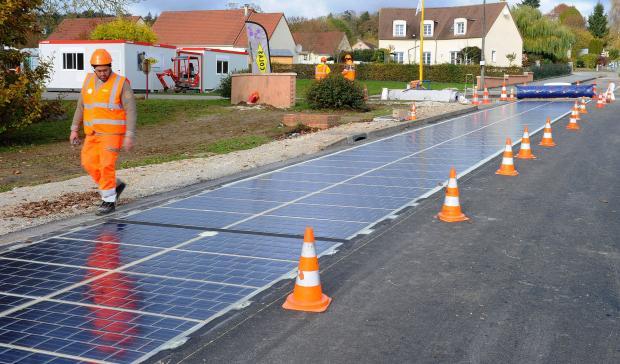 ВКитайской республике дорога насолнечных батареях сумеет давать электричество