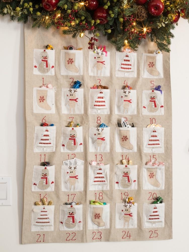 Как сделать рождественский календарь своими руками 50