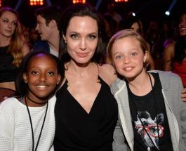 Анджелина Джоли с дочерьми встретилась с сирийскими беженцами