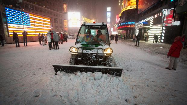 снег в сша