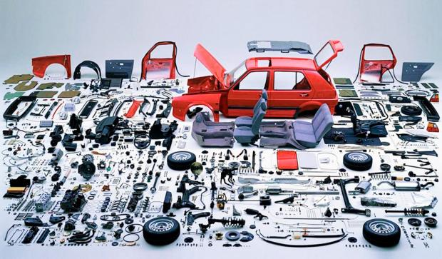 Набор деталей для автомобиля
