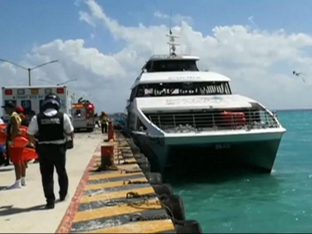 Как минимум  13 человек пострадали при взрыве натуристическом судне вМексике