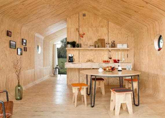 Экологичный дом из картона прослужит более 50 лет и его можно повторно переработать