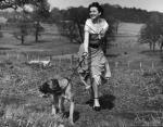 Одри Хепберн, в парке Ричмонда, в 1950 году