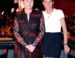 Ведущая Юля Барановская с мамой