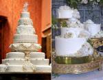 Восьмиярусный торт Кейт от Фионы Кернс и торт Меган от Клэр Птэк