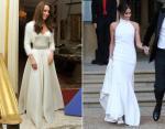 Кейт в вечернем платье от Сары Бертон, а Меган от Стеллы Маккартни