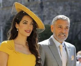 Королевская свадьба: Амаль Клуни в ярком наряде приковывает взгляды