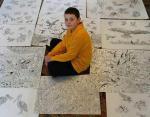 Сербский подросток создает масштабные картины по памяти: на родине он звезда