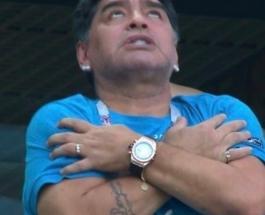 Диего Марадона перенервничал: экс-футболисту стало плохо во время матча Аргентина-Нигерия