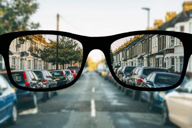 Вид в очках