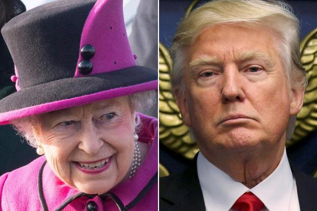 Трамп и Елизавета