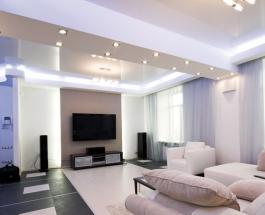 Натяжные потолки с подсветкой: как выбрать оптимальный вариант для дома и квартиры