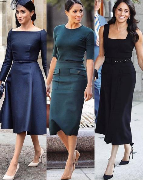 Модный марафон Меган Маркл: герцогиня за один день сменила три разных образа