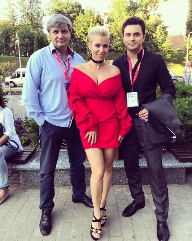 Лиене Грейфане с Константином Московичем и Владом Сытником