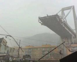 В Италии обрушился мост со 100-метровой высоты: десятки людей погибли