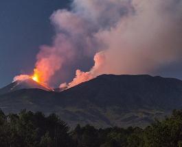 Извержение вулкана на Сицилии: дремлющий исполин Этна начал выбрасывать лаву