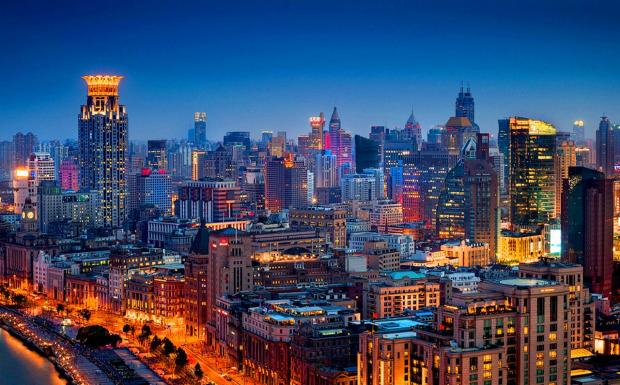 Панорама города в Китае