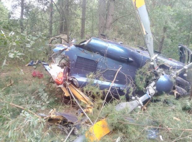 крушение вертолета в Киеве