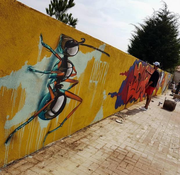 Объемное граффити: португальский художник создает настоящие шедевры на стенах