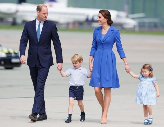Принц Уильям Кейт Миддлтон и дети