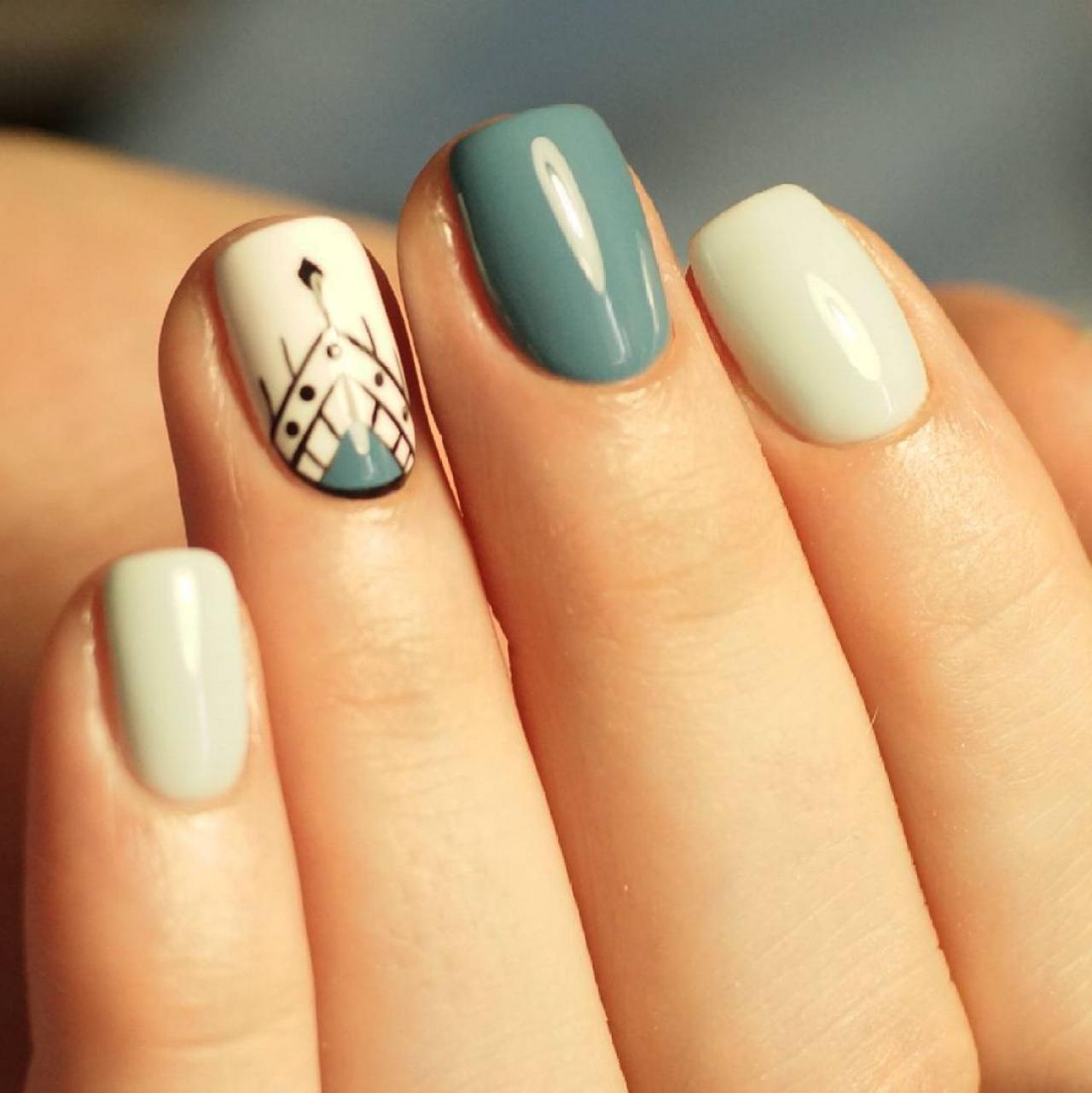 Красивые Рисунки На Ногтях Пошаговое Фото