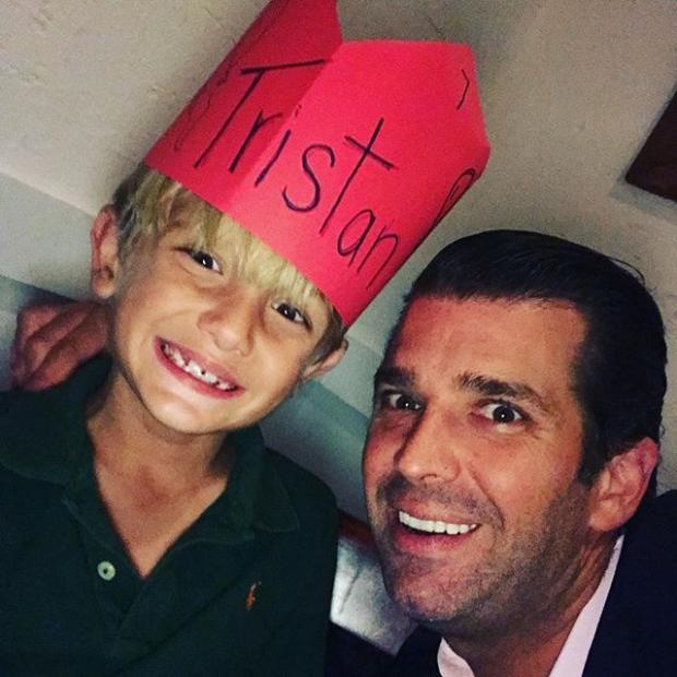 Дональд Трамп-младший с сыном
