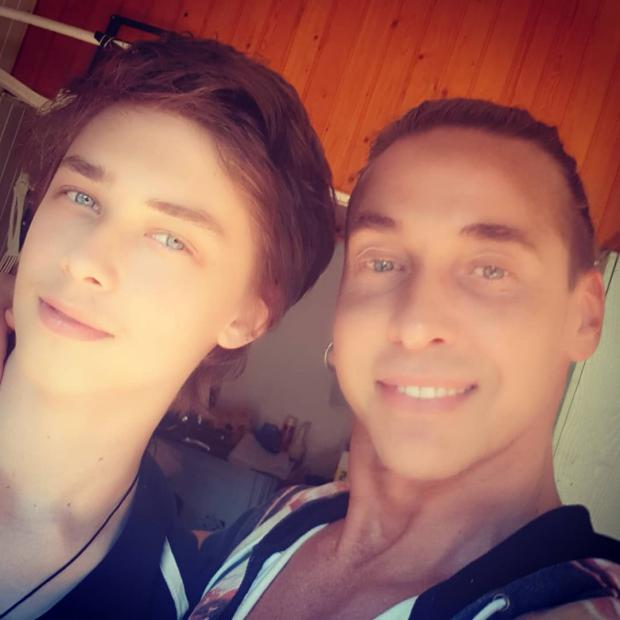 Тарзан Сергей Глушко с сыном