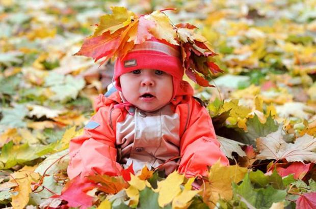 ребенок осень