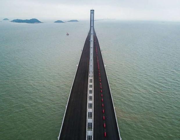 самый длинный морской мост