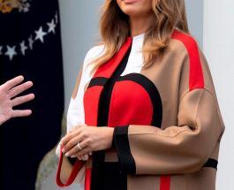 Мелания Трамп – воплощение роскоши: День благодарения в пальто от Dior