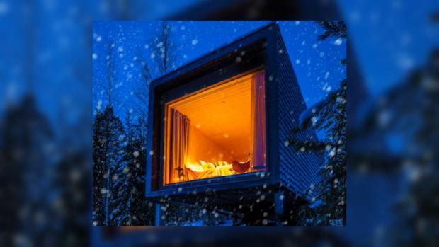 Фантастический вид из окна: отель в Финляндии открывает взору красивые зимние пейзажи