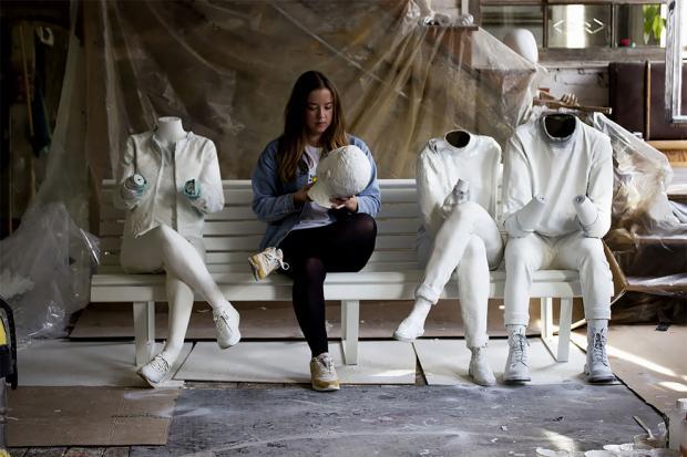 скульптурная группа в Амстердаме