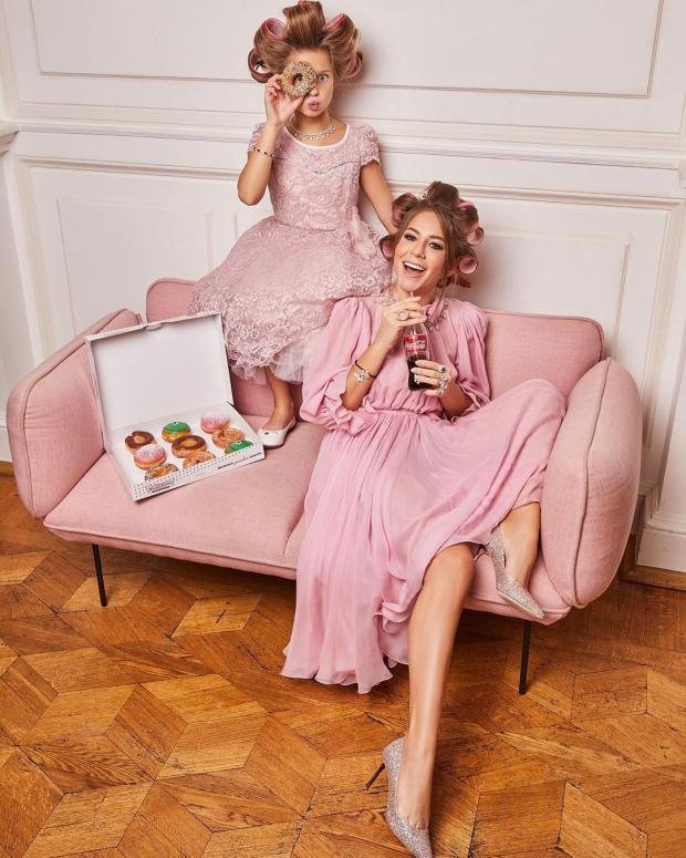 Юлия Барановская с дочкой