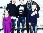 Оскар Кучера с Юлией и детьми