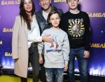 Оскар Кучера с сыновьями и супругой