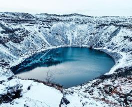 90-метровый ледяной диск в реке США: люди сравнивают образование с кругами на полях