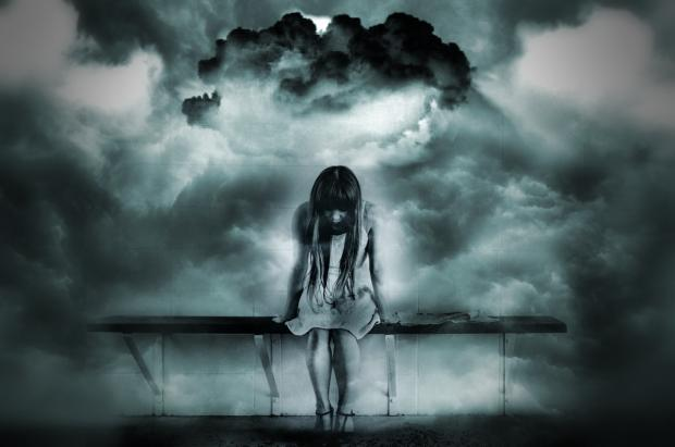 женщина грусть