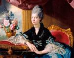 Шарлотта Мекленбург-Стрелицкая в синем платье