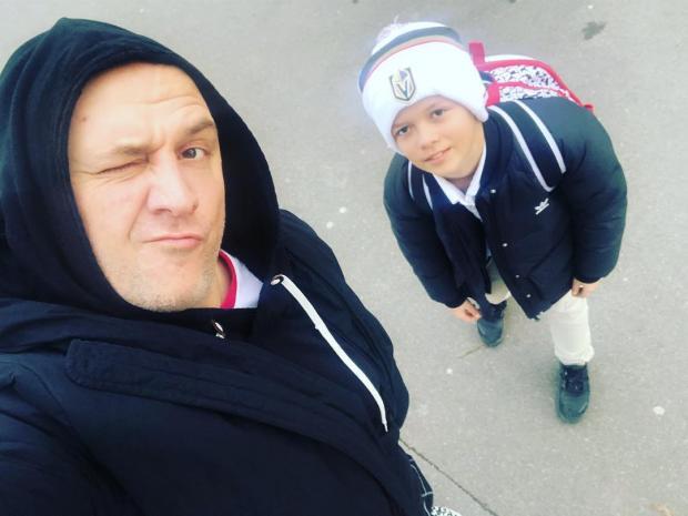 потап с сыном