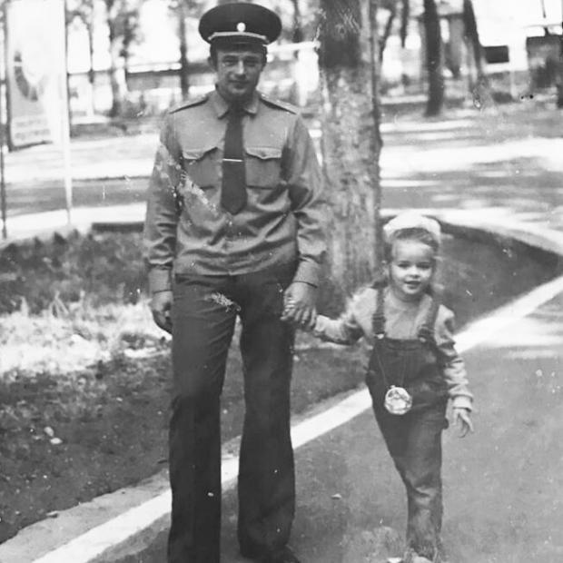 александрова с отцом
