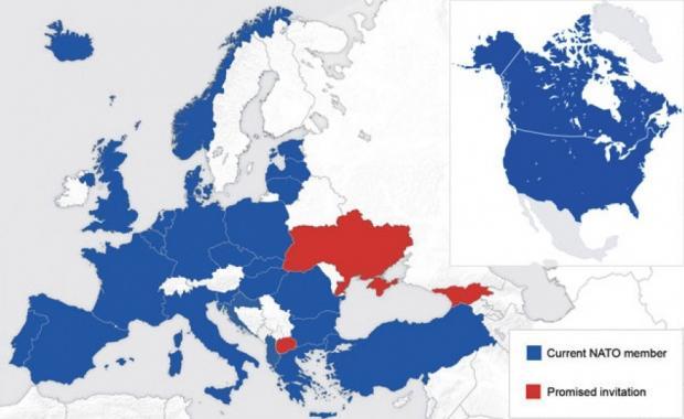 Карта стран-членов НАТО