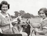 Принцесса Елизавета и Принцесса Маргарет в детстве