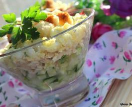 """Универсальный салат """"Нежность"""" подойдет для любой трапезы"""