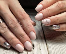 Маникюр с блестками: идеи нежного дизайна ногтей в пастельных тонах