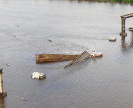 В Бразилии по вине капитана парома рухнула часть большого моста